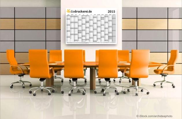 Jahresplanung mit kalendervorlagen f r 2015 von for Kalender 2014 selbst gestalten