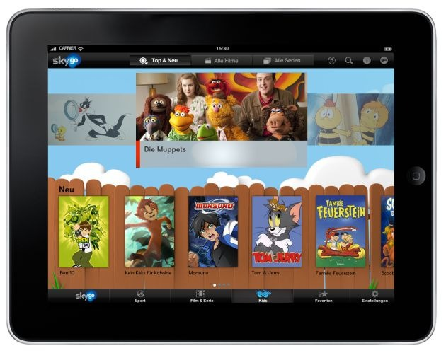 Sky startet ab sofort umfangreichen Kids-Bereich auf Sky Go