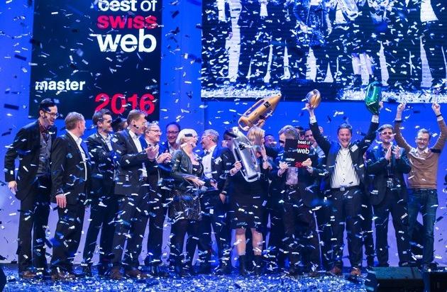 Best of Swiss Web: Post.ch élu «Master of Swiss Web 2016»