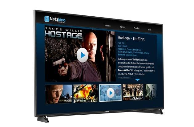BILD: Panasonic TVs jetzt auch mit Netzkino-App / Der kostenlose Streaming-Dienst Netzkino stellt App ab sofort auch für Panasonic Smart TV Geräte bereit (FOTO)