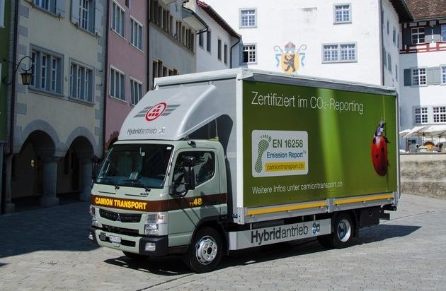 Camion Transport AG: Erstes Schweizer Transportunternehmen nach EN 16258 zertifiziert