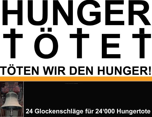 Schweizerische Allianz gegen den Hunger: Machtvolle Demonstration gegen den Welthunger