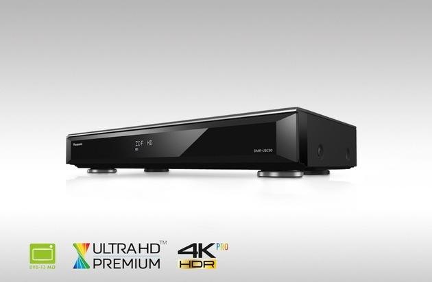 BILD: Panasonic Ultra HD Blu-ray Recorder DMR-UBC90 und UBC80 für DVB-T2 HD und Kabel / Ultra HD Premium-zertifizierte Komplettlösungen für Fernsehen, UHD Blu-ray mit HDR und 4K Videostreaming (FOTO)