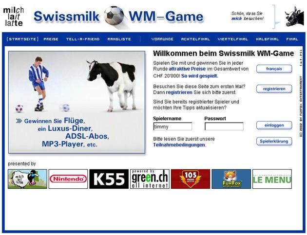Swissmilk startet WM-Tippspiel