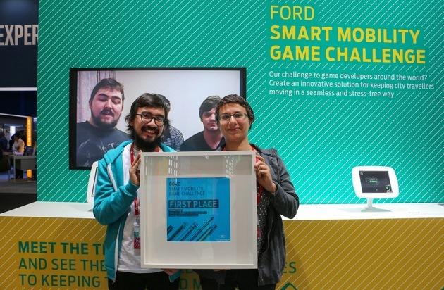 """Ford-Werke GmbH: Neue Smartphone-App """"Jaunt"""" ist Gewinner der von Ford ausgelobten """"Smart-Mobility Game Challenge"""""""