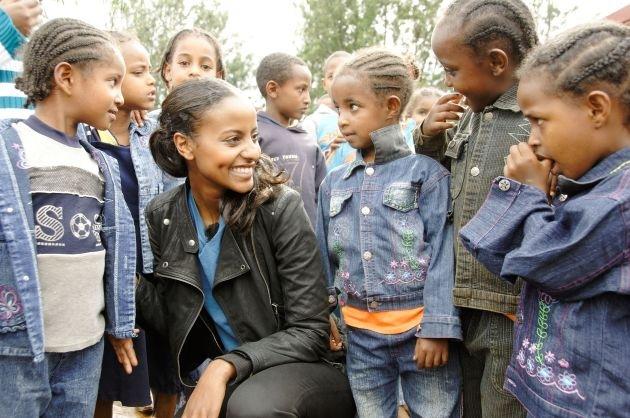 Sara Nuru engagiert sich seit über drei Jahren für Karlheinz Böhms Äthiopienhilfe Menschen für Menschen