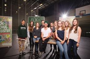 """AOK-Schulmeister: """"Wir sind groß"""": Mark Forster, DieLochis und die Flying Steps geben ein exklusives Musikfestival für das John-Brinckman-Gymnasium in Güstrow"""