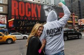 """Stage Entertainment GmbH: Neben Hamburg jetzt auch am Broadway: ROCKY feiert umjubelte Premiere in New York / Sylvester Stallone: """"Ohne Hamburg würde es Rocky am Broadway nicht geben"""""""