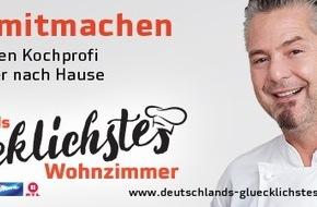 """HD PLUS GmbH: Sterneküche frei Haus: """"Kochprofi"""" Frank Oehler sucht, besucht und bekocht den größten Fan der TV-Sendung"""