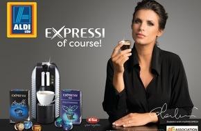 Unternehmensgruppe ALDI SÜD: Elisabetta Canalis wirbt für neue EXPRESSI Kampagne