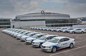 Skoda Auto Deutschland GmbH: Heimspiel: Der neue SKODA Superb ist automobiles Flaggschiff der IIHF Eishockey-Weltmeisterschaft in Tschechien