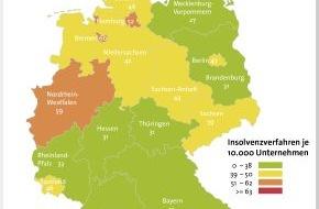 BÜRGEL Wirtschaftsinformationen GmbH & Co. KG: Firmeninsolvenzen sinken um 7,6 Prozent