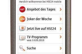 HSE24: HSE24 wird mobil / Homeshopping-Spezialist launcht mit HSE24 mobile weitere Verkaufsplattform (mit Bild)