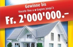 SWISSHAUS: SWISSHAUS fête ses 15 ans: le modèle de maison KIRA figure sur chaque billet «Maison de rêve» de Swisslos