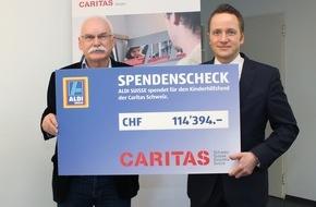 Caritas Schweiz / Caritas Suisse: Caritas peut compter sur le soutien d'ALDI SUISSE dans son combat contre la pauvreté
