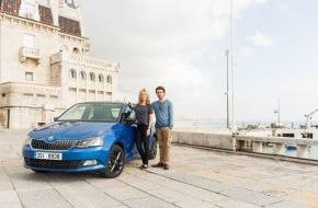 Skoda Auto Deutschland GmbH: Testfahrt in Lissabon: Prominente entdecken den neuen SKODA Fabia