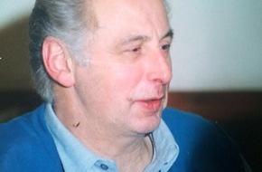Polizeipräsidium Mittelfranken: POL-MFR: (1356) 79-jähriger Ewald F. vermisst - Zeugenaufruf
