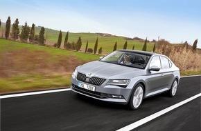 Skoda Auto Deutschland GmbH: Technik, die begeistert: Neuer SKODA Superb mit innovativen Assistenzsystemen für mehr Sicherheit und mehr Komfort