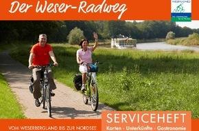 Weserbergland Tourismus e.V.: Neuauflage des kostenfreien Tourenplaners für den gesamten Weser-Radweg / Kompaktes Serviceheft zur individuellen Tourenplanung