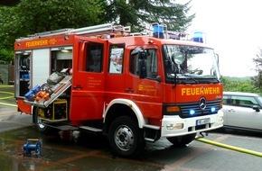 Feuerwehr Heiligenhaus: FW-Heiligenhaus: Privatsauna ging in Flammen auf (Meldung 18/2016)