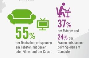 Weight Watchers (Deutschland) GmbH: Die beliebtesten Mittel gegen Stress / Sofa, Schokolade und Sport - So entspannt Deutschland