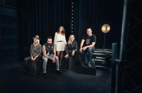 NDR Norddeutscher Rundfunk: Die deutsche ESC-Jury 2016: Sarah Connor, Anna Loos, Namika sowie Alec Völkel und Sascha Vollmer (The BossHoss)