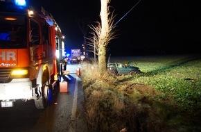 Freiwillige Feuerwehr Menden: FW Menden: Verkehrsunfall im Berufsverkehr