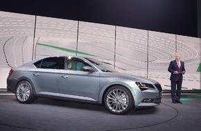 Skoda Auto Deutschland GmbH: Der neue SKODA Superb: Emotionaler Auftritt auf der Volkswagen Group Night in Genf