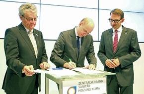 Zukunft ERDGAS: Zukunft ERDGAS und ZVSHK schließen Zukunftspartnerschaft / Gemeinsamer Einsatz für mehr Klimaeffizienz und innovative Erdgas- Technologien im Gebäudesektor