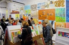 Kunstsupermarkt: Jetzt gibt es Kunst für alle / Eröffnung des 16. Schweizer Kunst-Supermarktes