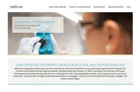 AbbVie Deutschland GmbH & Co KG: Neue Website www.biologika-info.de informiert über Biologika, inkl. Biosimilars