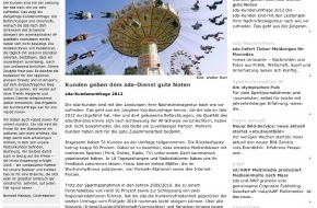 news aktuell (Schweiz) AG: sda-Newsletter: Eventfotografie, beste Social Media-Kampagne und gute Noten für die sda