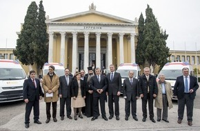 ASB-Bundesverband: Schnelle Hilfe: ASB bringt fünf Krankenwagen nach Griechenland