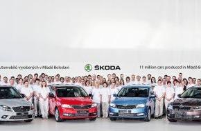 Skoda Auto Deutschland GmbH: Rekord: 11.000.000 Automobile im SKODA Stammwerk Mladá Boleslav produziert