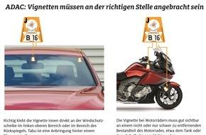 ADAC: Mautpreller werden mit 120 Euro zur Kasse gebeten / Der ADAC sagt, wo die Österreich-Vignette hingehört
