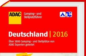 """ADAC: Gut vorbereitet in den Urlaub starten mit den beiden """"ADAC Camping- und Stellplatzführern 2016"""" / Reisende finden mehr als 1.900 Plätze im neuen Band Italien, Kroatien, Österreich und Slowenien"""