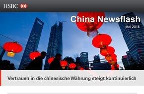 HSBC Deutschland: Vertrauen in die chinesische Währung steigt kontinuierlich - bei Unternehmen jeder Größe