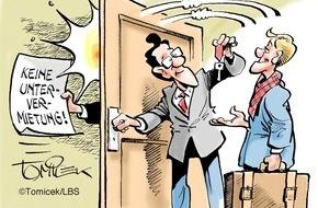 Bundesgeschäftsstelle Landesbausparkassen (LBS): Zwei Zimmer abzugeben / Bei längerer Abwesenheit muss Untervermietung erlaubt werden
