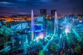 Autostadt GmbH: Weltweit größte, mobile Wassershow in der Autostadt in Wolfsburg / zweite Show startet am Sonntag