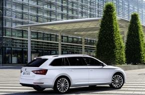 Skoda Auto Deutschland GmbH: Neuer SKODA Superb: Zwei neue Motoren sowie weitere Antriebs- und Getriebekombinationen ab sofort bestellbar