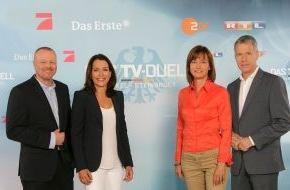 """ARD Das Erste: """"Das TV-Duell"""": Höhepunkt des Fernsehwahlkampfs am 1. September  im Ersten, auf ProSieben, RTL und im ZDF"""