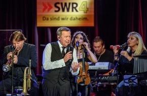 SWR - Südwestrundfunk: Roland Kaiser nahm Songs für neue CD bei SWR4 in Mainz auf Radiobeitrag über die Plattenaufnahmen am 12.2., 10.40 Uhr in SWR4 Rheinland-Pfalz