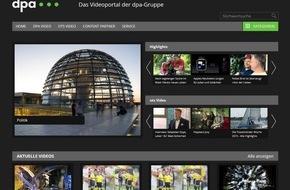dpa Deutsche Presse-Agentur GmbH: Mehr Inhalt, neue Funktionen: dpa-Videoplattform wird zur Bewegtbild-Drehscheibe