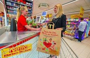 """Netto Marken-Discount AG & Co. KG: Netto Marken-Discount ist Partner von """"RTL - Wir helfen Kindern"""" / Gewinnerbild des Netto-Kindermalwettbewerbs ist Motiv für  Spendentaschen"""