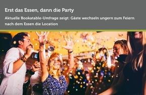 Bookatable GmbH & Co.KG: Party! Aber erst noch die Grundlage schaffen / Eine Bookatable-Umfrage zeigt: Gäste entscheiden sich für kombinierte Feier- und Tanzlocations