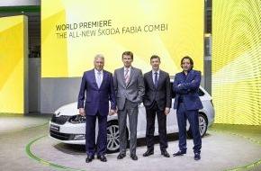 Skoda Auto Deutschland GmbH: Emotionen an der Seine: Neuer SKODA Fabia und Fabia Combi feiern Weltpremiere
