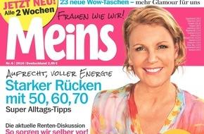 """Bauer Media Group, Meins: Meryl Streep in Meins: """"Diäten nehmen uns doch den Spaß am Leben"""""""