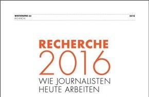 news aktuell GmbH: Recherche 2016: So arbeiten Journalisten heute