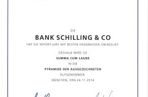 Bank Schilling & Co AG: Elite Report 2015: Bank Schilling Top-Vermögensverwalter