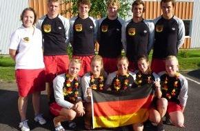 DLRG - Deutsche Lebens-Rettungs-Gesellschaft: Dreimal Gold bei den Junioren-Europameisterschaften der Rettungsschwimmer / DLRG-Mannschaft wird in Schweden Vize-Junioren-Europameister
